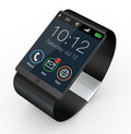 Modern smartwatch closeup of a d render Royalty Free Stock Photos