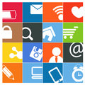 Modern social media buttons Stock Images