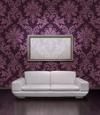 Modern sofa and frame Royalty Free Stock Images