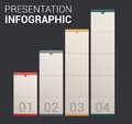 Modern soft color Design template / infographics Stock Photo