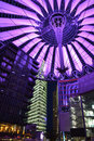 Modern sony center berlin the in germany at night light up Stock Photo