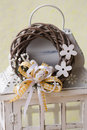 Modern Spring wreath Royalty Free Stock Photo