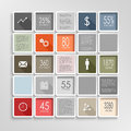 Modern squares colorful info graphic template Royalty Free Stock Photo