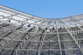Modern stadium roof construction Royalty Free Stock Photo