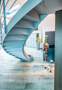 Modern staircase in contemporary office Royalty Free Stock Photo