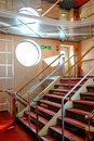 Modern staircase in a cruise ship during a cruise in the adriatic sea Stock Photos