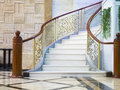 Modern staircase a and entryway Royalty Free Stock Images