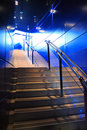 Modern stairs and blue light Royalty Free Stock Photography