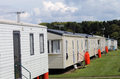 Modern static caravans Stock Photography