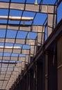 Modern steel building frame Royalty Free Stock Photo