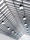 Modern steel frame roof Stock Image