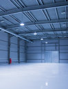 Modern storehouse empty room of with gates Royalty Free Stock Photos