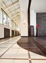 Modern studio and balcony (gallery) interior Royalty Free Stock Photography