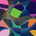 Abstrakce složení vyrobený z různý zaoblený tvary v barva