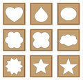 Modern style classic frames of star heart drop oval cloud for gallery collection vector set Stock Photography