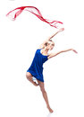 Modern style dancing girl Stock Photos