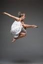 Modern style dancing girl Stock Photos