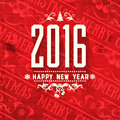 Modern style grange red white color scheme new year greetings card