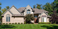 Modern suburban home large brick Royalty Free Stock Image
