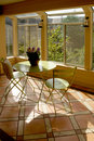 Modern sun room Royalty Free Stock Photo