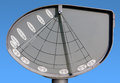 Modern sundial in aiello del friuli italy Royalty Free Stock Image