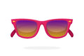Modern sunglasses with pink mirror lenses