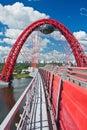 Modern suspension bridge Royalty Free Stock Photo
