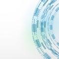 Modern technology blue background abstract templat