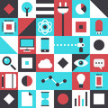 Modern technology flat pattern design vector illustration concept with icons of business innovation elements and futuristic Royalty Free Stock Photos