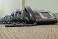 Modern Technology VoIP Telephones sit waiting their deployment