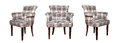 Modern textile chair in black and white chess pattern isolated Royalty Free Stock Photo