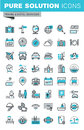 Modern thin line flat design icons set of travel and tourism sign and object