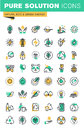 Modern thin line icons set of ecology, sustainable technology, renewable energy, recycling