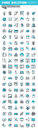 Modern thin line icons set of graphic design, app and website development Royalty Free Stock Photo