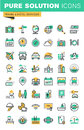 Modern thin line icons set of holidays offer, information about destinations, types of transport, hotel facilities Royalty Free Stock Photo