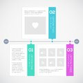 Modern timeline design template vector illustration Stock Image