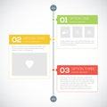 Modern timeline design template Royalty Free Stock Photo