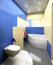 Modern Toilet  interior Royalty Free Stock Photo