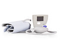 Modern tonometer for blood pressure measurement on a white background Stock Photos