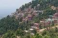 The modern tourist area of the village of McLeod Ganj. North India, Himachal Pradesh Royalty Free Stock Photo