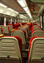 Modern train carriage Stock Image