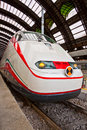 Modern train at station high speed milano central waiting for departure Stock Image
