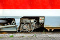 Modern train wheel axle Royalty Free Stock Photo