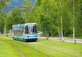 Modern tram in Grenoble Royalty Free Stock Photo