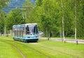Modern tram in Grenoble Royalty Free Stock Photo