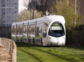 Modern tram in Lyon Royalty Free Stock Image