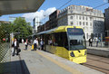 Modern Tram in Manchester Royalty Free Stock Photos