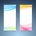 Modern tranparent vertical abstract banner set Royalty Free Stock Photo
