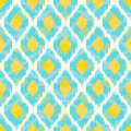 Modern tribal fashion seamless pattern bright ikat Stock Photography