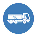 Modern truck vehicle icon in flat style, vector illustration